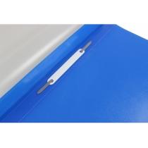 Папка-скоросшиватель глянцевые А4 с перфорацией синяя