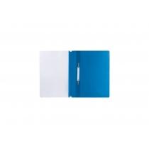 Папка-скоросшиватель с прозрачным верхом А4 с перфорацией, глянец, салатовый