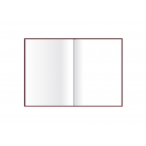 Деловая записная книжка  А5, Glen, белый нелинованный блок, мягкая, с резинкой, цвет - салатовый