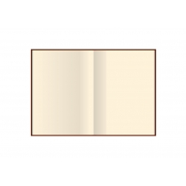 """Деловая записная книжка А5, тиснение """"Орнамент угловой"""", твердая, кремовый нелинованный блок, фисташ"""