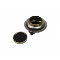 Маслёнка одинарная, металлическая с крышкой, (d: 6cм) DK11019, D.K.ART & CRAFT