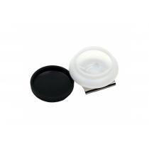 Маслёнка одинарная, пластиковая с крышкой (4,5х1,7см) (15003) D.K.ART & CRAFT