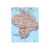 Карта. Украина. Политико-административная карта 150х105 см