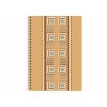"""Блокнот """"Орнамент"""", А6, бічна спіраль, 80 аркушів., Пластикова повнокольорова обкладинка, папір -офс"""