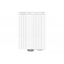 Карточка складского учета материалов форма М-17 картон формат А-4 1+1 100 штук
