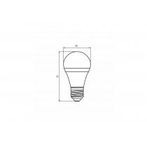 "Лампа светодиодная ЭКО серия ""D"" А50 7W E27 4000K, EUROLAMP"