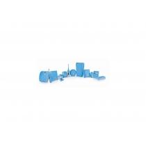 Держатель салфеток для лица COLORED пластик голубой