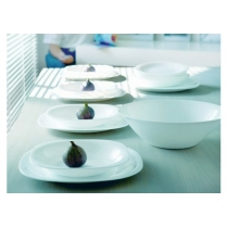 Тарілка LUMINARC CARINE WHITE /19 см/десерт.