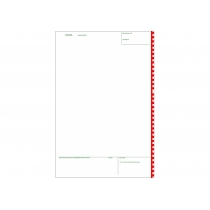 Таможенная декларация ТД-6 самокопировальная формат А4 комплект 4 листа