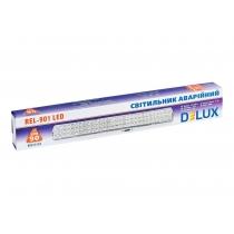 Світильник аварійний DELUX, REL-901 (2*3.7V2Ah) 90 LED 6W, 480x68x38
