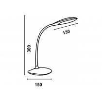 Лампа настольная светодиодная Ultralight DSL050 чорная, 5W, 300lm, 4500k