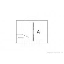 Папка-скоросшиватель А4 пластиковая CLIP А, зеленая