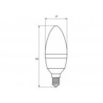 Лампа ЕКО EUROLAMP LED серия CL 8W E14 3000K (50)