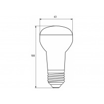 Лампа ЕКО EUROLAMP LED серия R63 9W E27 3000K