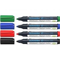 Набор маркеров для досок и флипчартов SCHNEIDER MAXX 290 2-3 мм, 4 цвета в блистере