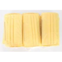 Маска защитная шитая, 3-х слойная цвет желтый