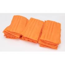 Маска защитная шитая, 3-х слойная цвет оранжевый