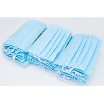 Маска защитная шитая, 3-х слойная цвет синий