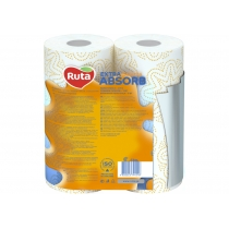 Рушники паперові 3 шари Ruta Selecta 2 рулона