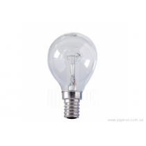 Лампа сфера 60W Е27 PS45 прозрачная, ИСКРА