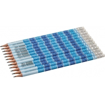 Карандаш чернографитный Optima MATHS HB корпус табл. умножения, заточенный, с резинкой