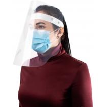 Екран-маска захисний прозорий, кріплення на стрічці кнопками