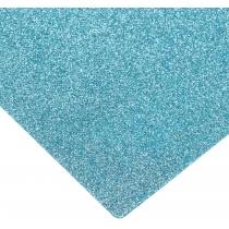 Флізелін з блискітками, 20х30 см, 220±10 г/м 2, блакитний