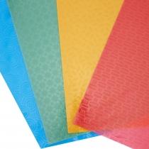 Набір кольорового пластику з тисненням, А4, 9 арк., 9 кол.