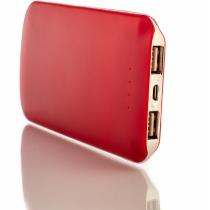 Мобильная батарея (Power Bank) Optima 4102, 5 000 mAh, 2*USB output, 5V 2.1A, красная