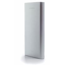 Мобільна батарея (Power Bank) металева Optima 4108, 10 000 mAh, 2*USB output, 5V 2.1A, колір металік