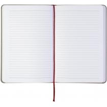 Діловий записник NEBRASKA, А5, м'яка обкладинка, гумка, білий блок лінія, чорний