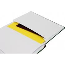 Діловий записник NEBRASKA, А5, м'яка обкладинка, гумка, білий блок лінія, темно-фіолетовий