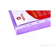 """Файл для документов А4 + Optima, 40 мкм, фактура """"глянец"""", фиолетовый (100 шт / уп)"""