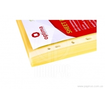 "Файл для документов А4 + Optima, 40 мкм, фактура ""глянец"", желтый (100 шт / уп)"