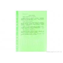 "Файл для документов А4 + Optima, 40 мкм, фактура ""глянец"", салатовый (100 шт / уп)"