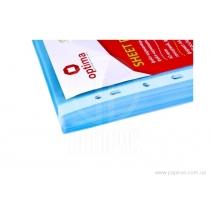 """Файл для документов А4 + Optima, 40 мкм, фактура """"глянец"""", голубой (100 шт / уп)"""