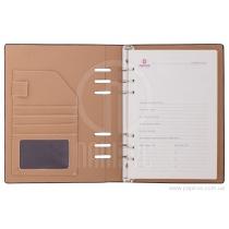 Бизнес-организатор, 185 * 235 мм, на кольцах, черный, бумага 80 г/м2, кремовый