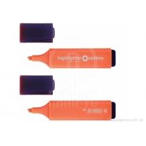 Маркер текстовыделитель OPTIMA 1-4 мм, оранжевый